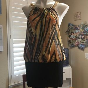 Jungle fever blouse, great for a fun night out